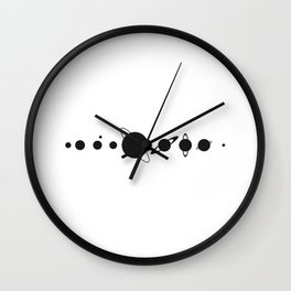 Planets silhouette Wall Clock