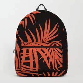 Palm Leaves Pattern Orange Vibes #1 #tropical #decor #art #society6 Backpack