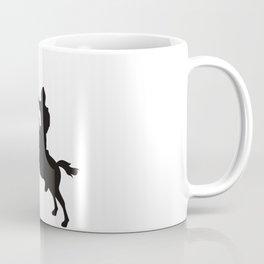 Horse Knight (Cavalry) Silhouette Coffee Mug