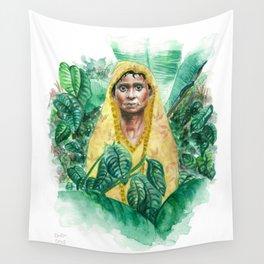 Woman in Yellow Sari Wall Tapestry