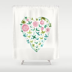 garden heart Shower Curtain