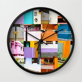 Colours from the bus Wall Clock
