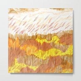 Golden Field drawing by Amanda Laurel Atkins Metal Print