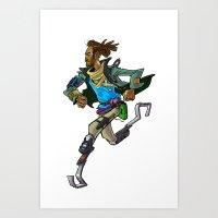 runner Art Prints featuring Runner by Kristal Babich