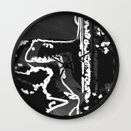 Lost Lines Wall Clock