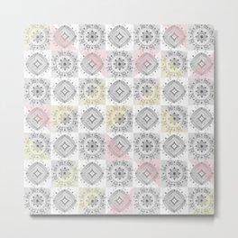 Modern patchwork tile pattern Metal Print