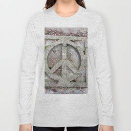 Peace sign on sidewalk in California Long Sleeve T-shirt