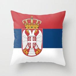 Serbia flag Throw Pillow