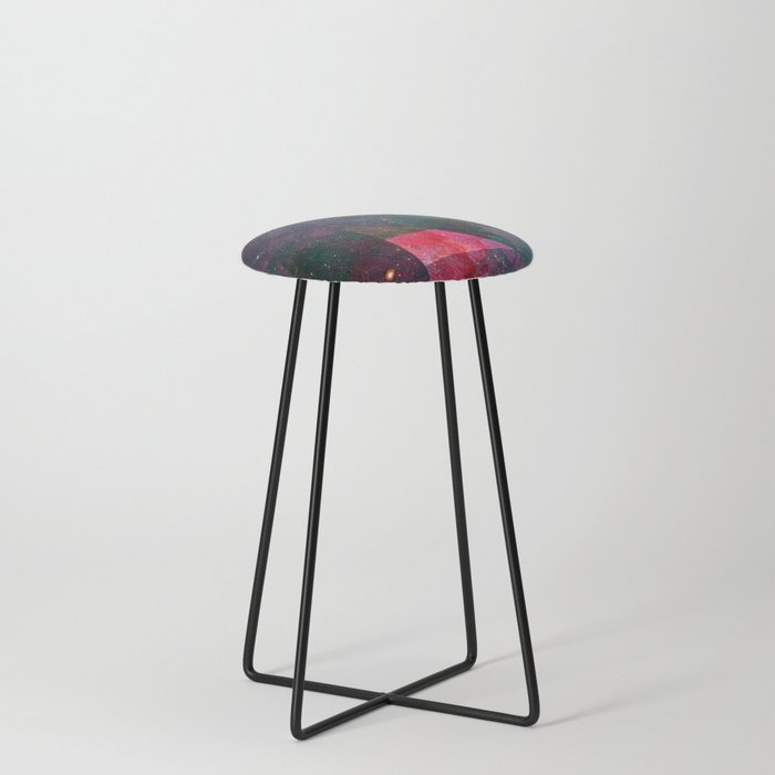 Pink Nebulae Counter Stool