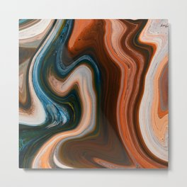 Marble Marbled Abstract Trendy CLI Metal Print