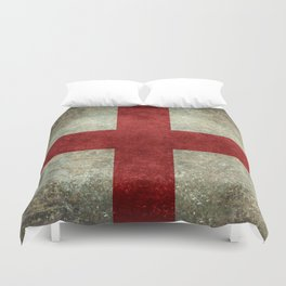 Flag of England (St. George's Cross) Vintage retro style Duvet Cover