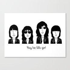 Hey ho, let's go! Canvas Print