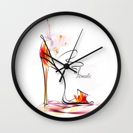 high heel Wall Clock