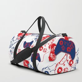 Video Game Red White & Blue 3 Duffle Bag