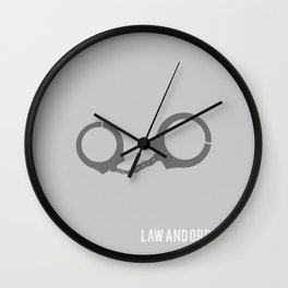 Law and Order SVU - Minimalist Wall Clock
