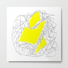Collage yellow gar Metal Print