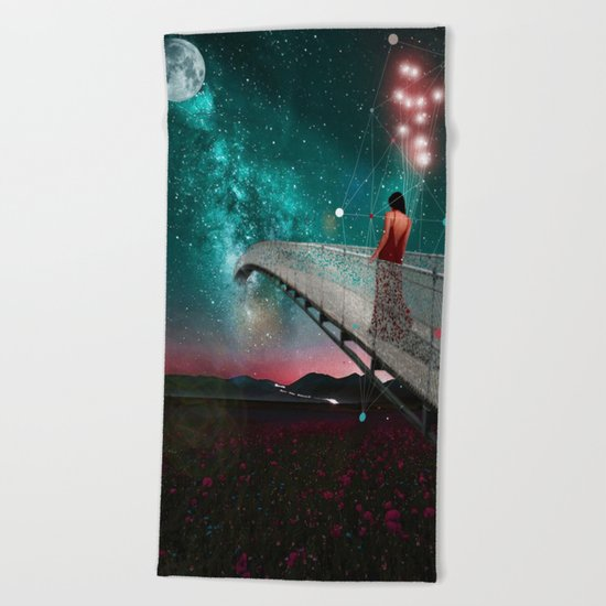 THE NIGHT WHEN I FOLLOWED THE STARS Beach Towel