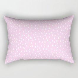 Baby Pink Paint Drops Rectangular Pillow