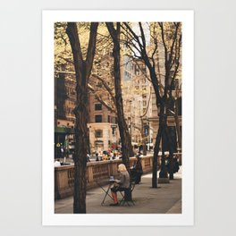 Watching 5th Avenue Art Print