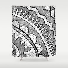 Lines & Dots Shower Curtain