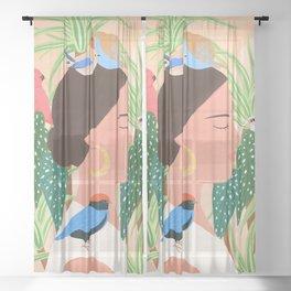 Bird Whisper Sheer Curtain