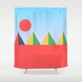Pyramids in the Sun Shower Curtain