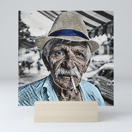 The Old Man and the Sea Portrait Mini Art Print