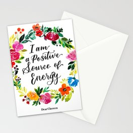 Positive Source of Energy Stationery Cards