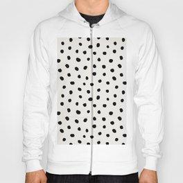 Modern Polka Dots Black on Light Gray Hoody
