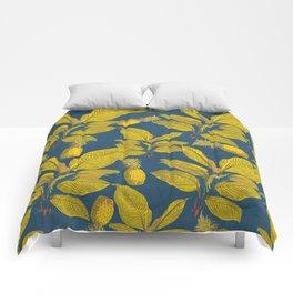 Exotic Pineapple Tropical Banana Palm Leaf Print Comforters