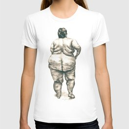 Woman in Shower T-shirt