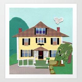 The house on Hillside Ave Art Print