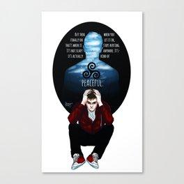 Sterek Drowning print Canvas Print
