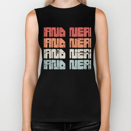 Vintage 70s BAND NERD Text | Marching Band Biker Tank