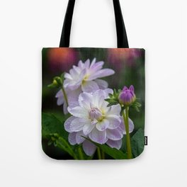Porcelain Dahlia With Dewdrops Tote Bag
