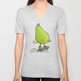 The Pear Skater Unisex V-Neck