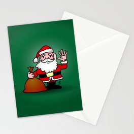 Santa Claus waving Stationery Cards