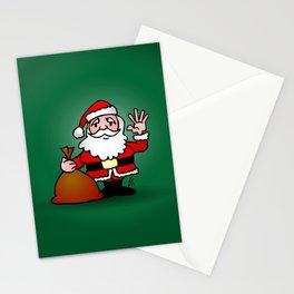 Santa Claus waving Stationery Cards