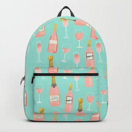Rose champagne wine food fight apparel and gifts Backpack