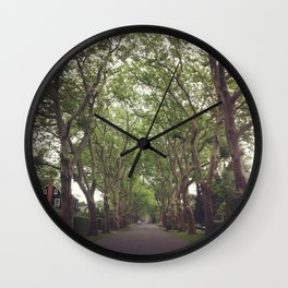 Hamptons Trees Wall Clock