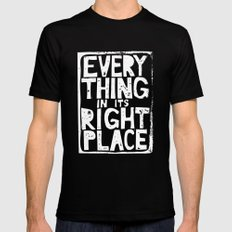 Everything in Its Right Place - Radiohead SMALL Mens Fitted Tee Black