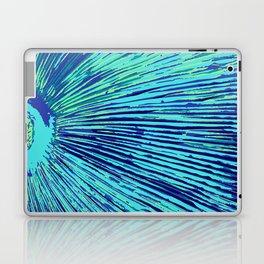 blue half moon mushroom Laptop & iPad Skin