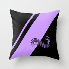 Purple Black Throw Pillow