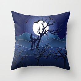 Night sex Throw Pillow