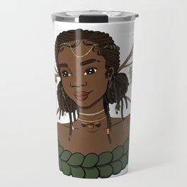 Autumn Oak Goddess • Black Girl Magic in Fall Colors Travel Mug