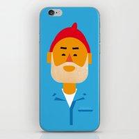 zissou iPhone & iPod Skins featuring Steve Zissou by Marco Recuero