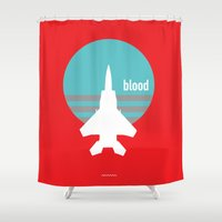 blood Shower Curtains featuring BLOOD by SIX PEAKS