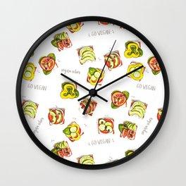 go vegan! Wall Clock