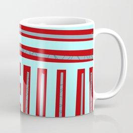 meeting of horizontal and vertical lines Coffee Mug