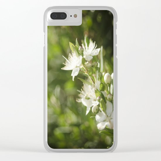 Bright Day, Tiny Flower Clear iPhone Case